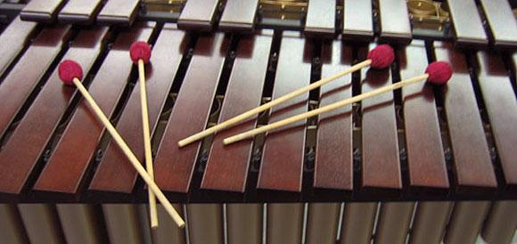 Marimba mit 4 Mallets